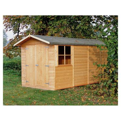 Apex Shed 10x7 with Double Doors by Finewood