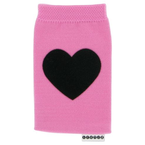 Trendz Fabric Sock for Universal Smartphone Devices - Pink/Black Heart