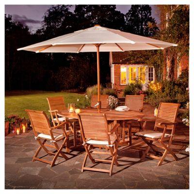 Dorney Teak 6-seat Garden Furniture Set inc Parasol