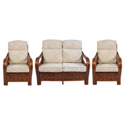Santiago 3 Piece Suite in Lily Fabric