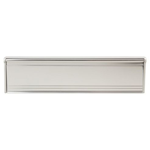 Premium Letter Box Draught Excluder Plate With Cover Chrome