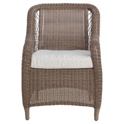 Malabar Wicker Garden Armchair & Cushion