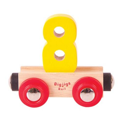Bigjigs Rail Rail Name Number 8 (Yellow)