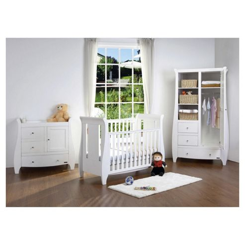 Tutti Bambini Katie 3 Piece Room Set, White with FREE Home Assembly