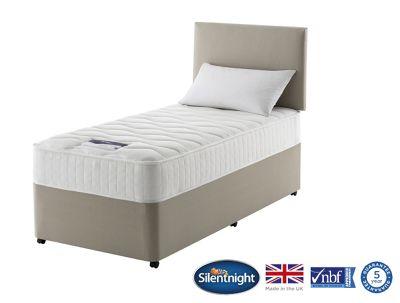 Silentnight Foxton Single Divan Bed, Non-Storage, 1000 Pocket Memory