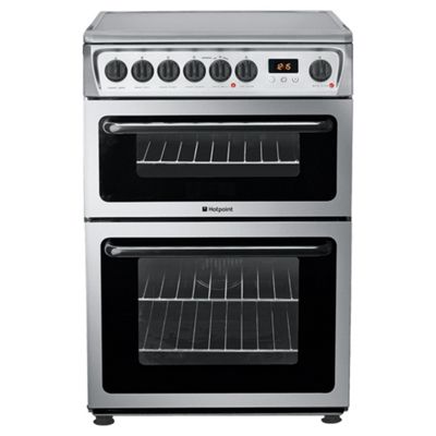 Hotpoint Hae60X Stainless Steel Ceramic Double Oven Electric Cooker