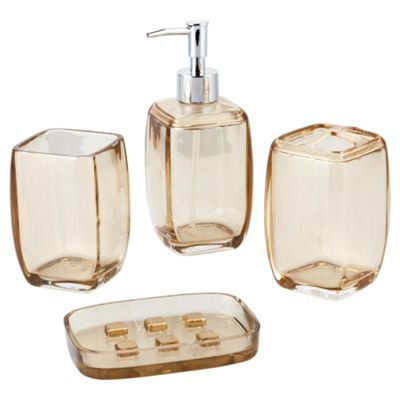 F+F Home Boxed Acrylic Accessories set Natural