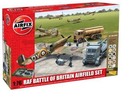 Airfix A50015 Raf Battle Of Britain Airfield 1:72 Scale Military Diorama Gift Set