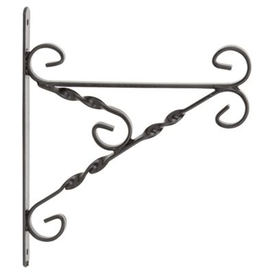 Gardman Heavy Duty Hanging Basket Bracket, Black
