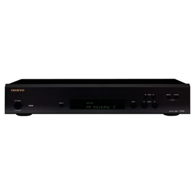 Onkyo T-4355 FM/AM RDS Tuner, Auto Preset, up to 20 FM/10 AM stations, Black