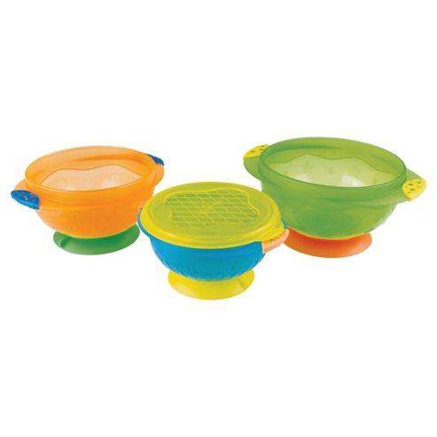 Munchkin 3 Pk Stay Put Suction Bowls