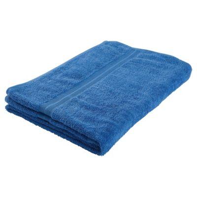 Tesco Bath Towel Royal Blue