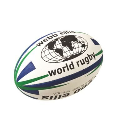 Webb Ellis World Rugby Ball - Navy/Green, Size 5