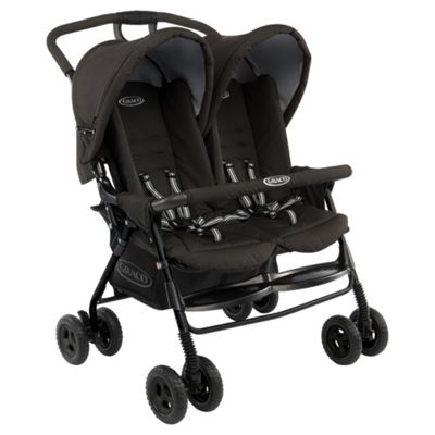 Graco Duosport Twin Pushchair And Raincover, Black