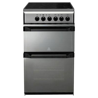 Indesit IT50CM moonstone ceramic twin electric cooker