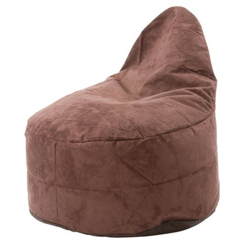 Kaikoo Faux Suede Ezee Chair, Chocolate