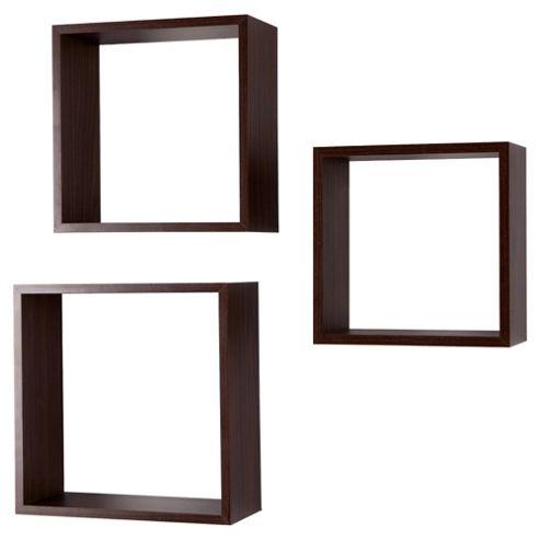 Walnut Floating Triple Cubes