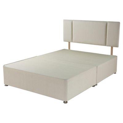 Airsprung Double Divan Bed, Non-Storage, Plus Headboard