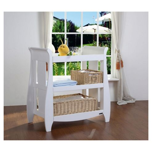 Tutti Bambini Lucas Cotbed with Shelf Changer Nursery Room Set, White