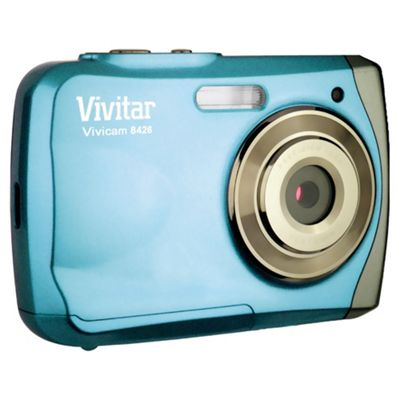Vivitar V8426 Waterproof Digital Camera, Blue, 8MP, 4x Optical Zoom, 2.5 inch LCD screen