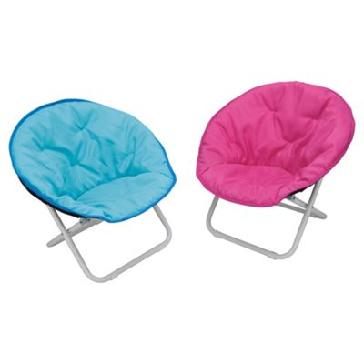Kids Moon Chair Blue/Pink