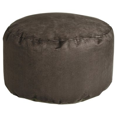Kaikoo Faux Suede Pouffe, Charcoal