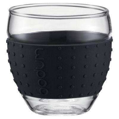 Bodum Pavina Set of 2 0.35L Glasses, Black