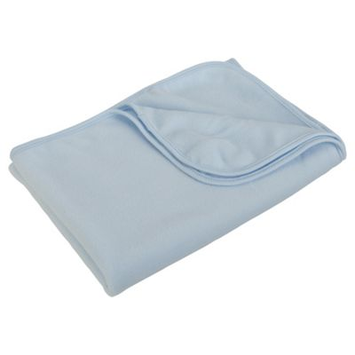 Tesco Fleece Blanket Moses/Crib Blue
