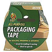 Duck Tape 50mm x 25m Brown Packaging Tape