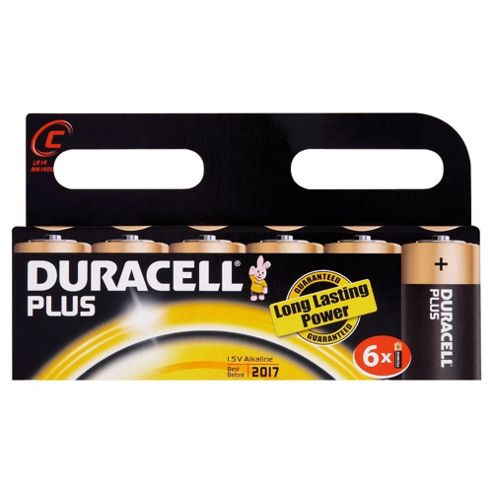 Duracell Plus 6 Pack C Batteries