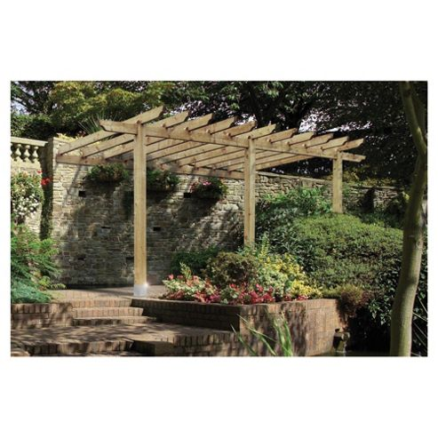 Finsbury Lean-to Pergola - Includes Bolt Down Anchors