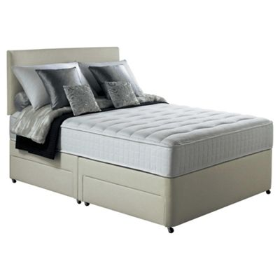 Silentnight Foxton Double Divan Bed with 2 Drawers, 1000 Pocket Memory