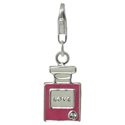 Sterling Silver and Enamel Perfune Bottle Charm