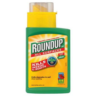 Roundup Concentrated Weedkiller 280ml, 280m2