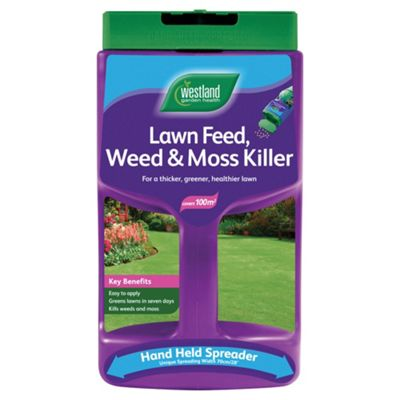 Westland Lawn Feed Weed & Moss Killer Spreader 100m2