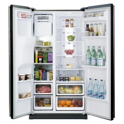 Samsung RSH5UBBP1/XEU Fridge Freezer, Energy Rating A+, Width 91.2cm. Black