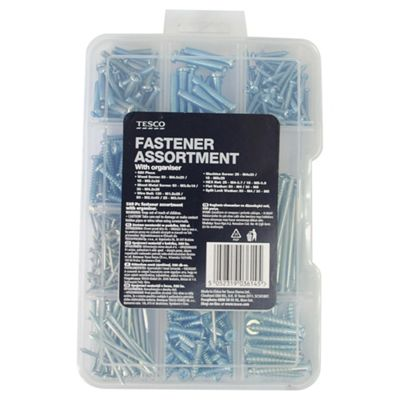 Tesco 580 Pc Fastener Assortment with Organiser