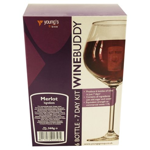WineBuddy 7 day Merlot, 6 bottles