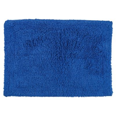 Tesco Bath Mat Electric Blue