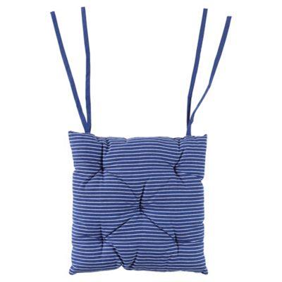 Tesco Blue & White Stripe Seat Pads 2pk