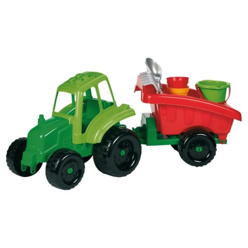 Tractor & Trailer Sand/Water Toy with Accessories