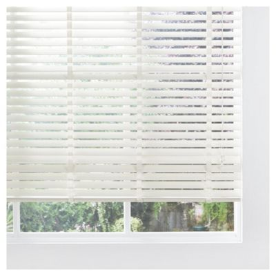 Sunflex Wood Venetian Blind W180 x Drop 152cm, 50mm Slats, Cream