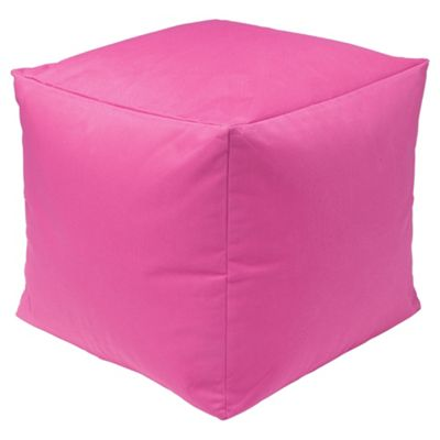 Kaikoo Indoor/Outdoor Bean Bag Cube, Pink