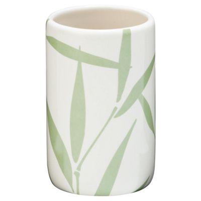 F+F Home Bamboo Leaf Ceramic Beaker