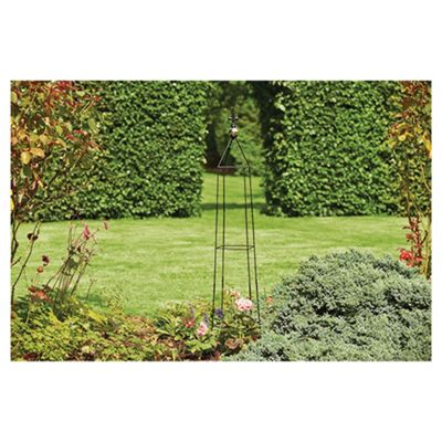 Tesco 1.5m Garden Obelisk with Shiny Ball