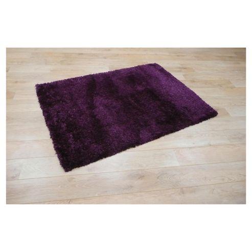 Tesco Rugs Extra Thick Shaggy Rug Violet 160X230Cm