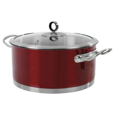 Morphy Richards 24cm Casserole, Red