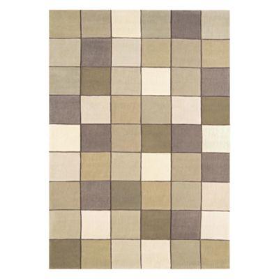 Tesco Rugs Eden Pixel Rug Beige 160x230cm