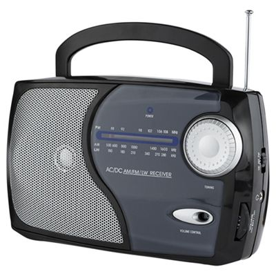 Tesco 113B Kitchen Analogue Radio - Black