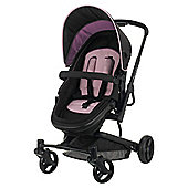 Obaby Chase 4 Wheel Pramette, Plum Flower